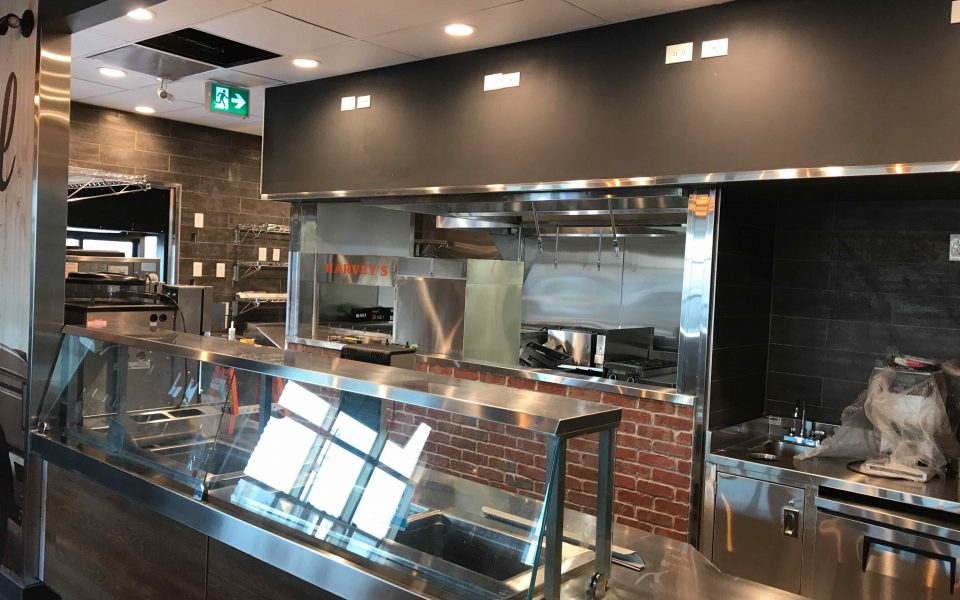 Quick Service Restaurant Commercial Construction, Cambria Design Build, Kitchner