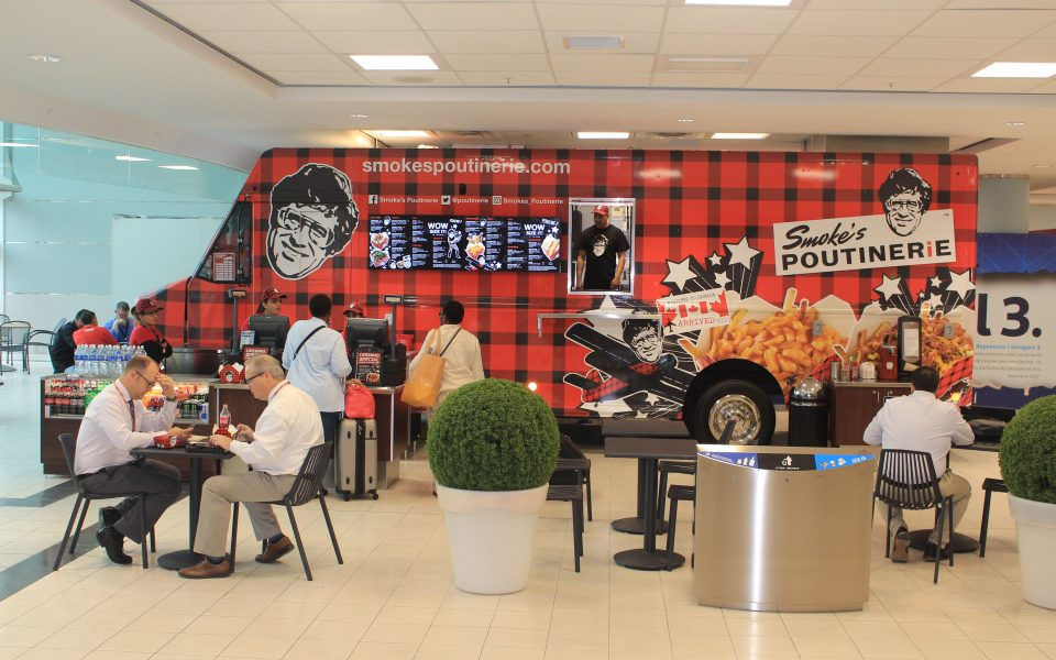 Smokes, Quick Service Restaurant, Pearson International Airport, Cambria Design Build