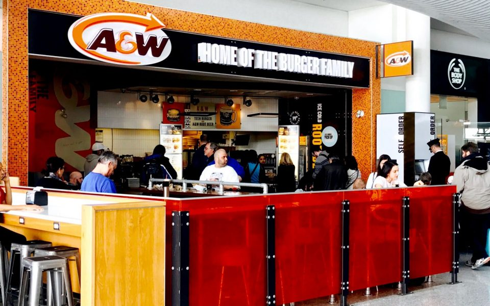 Quick Service Restaurant Construction, Cambria Design Build, Pearson International Airport, A&W