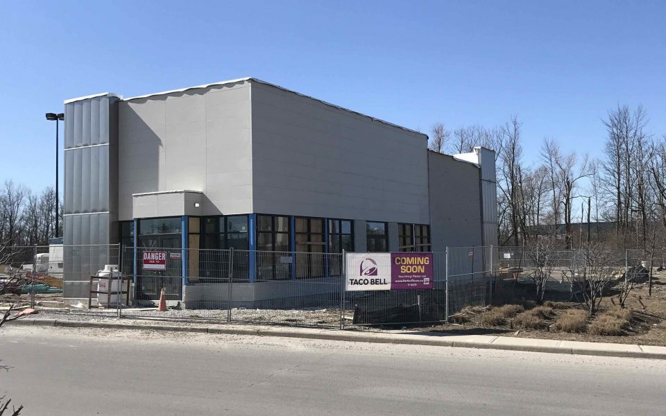 Quick Service Restaurant, Restaurant Construction, Cambria Design Build, Taco Bell, Guelph